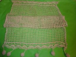 Rideau Filet 43x63 Environ Pompon Compris - Laces & Cloth