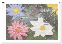 Gabon, Postfris MNH, Flowers, Dragonfly - Gabon (1960-...)