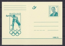 Belgium 1998 Olympic Games 1998 Nagano Postal Stationery Unused  (24947) - Winter 1998: Nagano