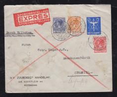 Netherlands 1933 EXPRESS Cover ROTTERDAM To CHEMNITZ Germany - Periode 1891-1948 (Wilhelmina)