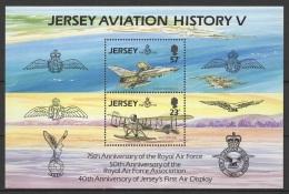 GB - Jersey (1993) Yv. Bf. 7  /  Aircraft - Avion - Airplane - Flugzeug - Ships - Aviation - Boten