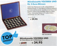 Klapp-Kassette VOLTERRA 2€-Europa 2012 Neu 42€ Für 35 Gedenkmünzen Zum Einlegen Der Verschiedenen EURO-Münzen In Kapseln - Badges