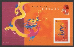 Hong Kong (2000) - Block IMPERF. -  /  Dragon - Chinese New Year - Chinees Nieuwjaar