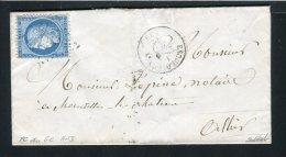 Lettre D´Escurolles Pour Brest 1872 - Cachet PC Du GC 1413 - Indice 15 - 1871-1875 Cérès