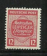 Deutschland 1945 West-Sachsen Michel 125 Musterschau Leipzig * - Zone Soviétique
