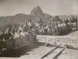 Photo Originale Sagette Lac D'artouste Le  Train Touristique Du Lac D'Artouste - Trenes