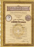 1933 - Action - La Sauvegarde Capitalisation Au 6 Rue De La Douane (Léon-Jouhaux) à Paris 10ème - FRANCO DE PORT - Shareholdings