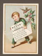 Les Buscs Marque à L'Hirondelle, Jolie Petite Chromo, Garçonnet, Branches De Houx, Oisillon - Chromos