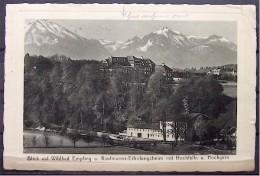 """Alte Karte """"Wildbad Empfing - Kaufmanns-Erholungsheim Mit Hochfelln Und Hochgern""""  Traunstein 1938 - Traunstein"""