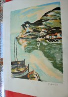 """LITHOGRAPHIE DES POINTUS PORT EN PROVENCE ->> 139/ 300 """" Signée G. MANTIGO-Artiste Peintre - Lithographies"""