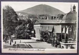"""Alte Karte """"BAD SALZBRUNN - Kurpromenade Mit Hochwald""""   1940 - Schlesien"""