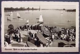 """Alte Karte """"HANNOVER - Blick Von Der Gaststätte MASCHSEE""""   1938 - Hannover"""