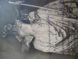 Photo Originale Dédicacée Juliette Marsanne Opéra. Cinquantenaire Du Conservatoire De Montpellier. 15.5 X 21 - Fotos Dedicadas