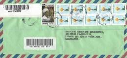 Tanzania 2004 Chuokiku Refugee Flower Barcoded Registered Cover - Tanzania (1964-...)