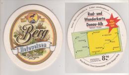 Berg Brauerei U. Zimmermann , Hefeweizen - Rad Und Wanderkarte Donau Alb - Beer Mats