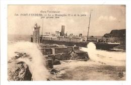 PORT VENDRES - PYRENEES ORIENTALES - LE MUSTAPHA II ET LA JETEE PAR GROSSE MER - Port Vendres
