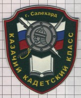 Ecusson. Patch. Toppa. Parche. Russia. Cossack Forces. Salehandr Cadet Corps. - Ecussons Tissu