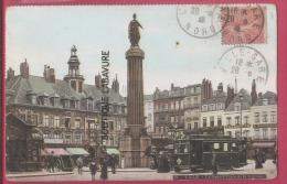 59 - LILLE-- La Grand´Place  Et La Colonne---Tramway--animé--colorisée - Lille