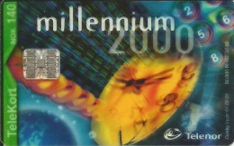 Telenor: Millenium 2000. Transparent Card - Norwegen