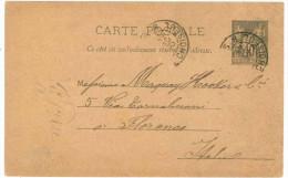 STORIA POSTALE 31 CARTOLINA POSTALE FRANCIA CARTE POSTALE REPUBLIQUE FRANCAISE VIAGGIATA 19 OTTOBRE 1934 DA PARIGI PARIS - France