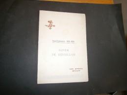 BRUXELLES HOTEL METROPOLE DINER DE REVEILLLON SAINT SYLVESTRE 1933-1934 - Menus