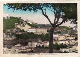 Marche-ancona-sassoferrato Veduta Panorama E Edificio Scolastico Anni/30 - Italia