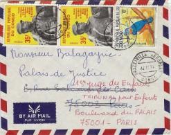 LBL33C - REP. POPULAIRE DU CONGO LETTRE AVION BRAZZAVILLE / PARIS 16/11/1979 - Congo - Brazzaville