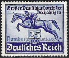 GP Der 3jährigen 1940: Michel-No 746 ** Postfrisch MNH (Michel € 26.00)) - Hippisme