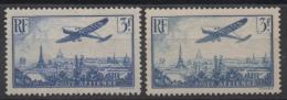 FRANCE - YT PA N° 12+12a - Neufs * - MH - Cote: 50,00 € - 1927-1959 Nuovi