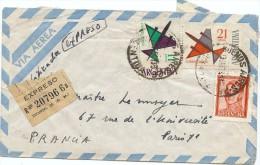 LBL33C - ARGENTINE LETTRE AVION EXPRES  BS AIRES / PARIS JANVIER 1964 - Poste Aérienne
