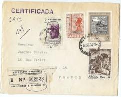 LBL33C - ARGENTINE LETTRE RECOMMANDÉE   BS AIRES / PARIS 22/12/19643 - Poste Aérienne