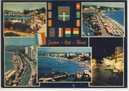 JUAN-LES-PINS, La Plage, Rond Point Du Débarcadere Et La Plage Ave. Guillaumont, Vue Géenerale ..... - Juan-les-Pins