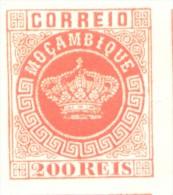FALSO FALKST  MOCAMBIQUE MOZAMBIQUE AÑO 1877 YVERT NR. 8 MNH NON DENTELE MINT NOT HINGED COURONNE CORONA COROA - Mozambique