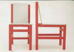 Bauhaus-Archiv Postcard, Bauhaus-Archiv Nuseum Fur Gestaltung, Marcel Breuer, Kinderstuhle 1923 - Museum