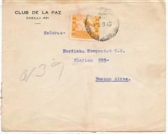LBL33C - BOLIVIE LETTRE LA PAZ / BUENOS AIRES SEPTEMBRE 1943 THÈME OISEAUX - Bolivie