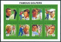 1991 St. Vincent  Sport Golf Block MNH** BL11 - Golf