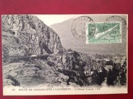 65 Route De PIERREFITTE à CAUTERETS Le Grand Tunnel + Cad Sur Olympiade 1924 - Cauterets