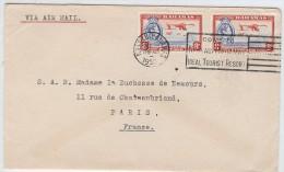LBL33C - BAHAMAS LETTRE AVION NASSAU / PARIS DECEMBRE 1933 - Bahamas (1973-...)