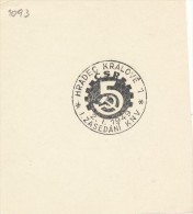 J4690 - Czechoslovakia (1949) Hradec Kralove 1: I. Session Of Regional National Committee (new Provincial Organization) - Geographie