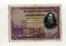 - ESPAGNE . 50 P. 1928 - 50 Pesetas