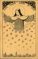 N°1572  MMM 65 SAINTE THERESE REPAND SES ROSES LISIEUX - Virgen Maria Y Las Madonnas