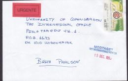 Spain URGENTE Label SEVILLA 1999 Cover Letra To Denmark ATM / Frama Label Real Club De Tenis Barcelona 1899 - Poststempel - Freistempel