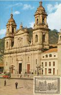 Lote PEP891, Colombia, Postal, Postcard, Tarjeta Maxima, Maximun Card, Bogota, Catedral, Church, 115 - Colombia