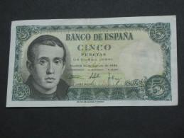 ESPAGNE  5 Cinco Pesetas  - 1951  Banco De Espana **** EN ACHAT IMMEDIAT **** - 5 Pesetas