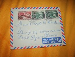 ENVELOPPE UNIQUEMENT DATE ?. / A.E.F. GABON A LYON FRANCE. / CACHETS + TIMBRES. - Autres
