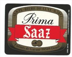 Ancienne étiquette Bière  Brasserie Des Enfants De Gayant Douai Nord Prima Saaz 0,245l - Bière