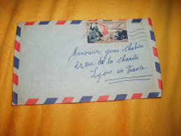 ENVELOPPE UNIQUEMENT DATE ?. / A.E.F.  A LYON FRANCE. / CACHET + TIMBRE. - Autres