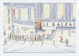 LE BALZAC Cinéma Rue De Balzac PARIS 75008-DESSIN DE FRAINCOIS AVRIL   -RECTO VERSO- C 24 - Arrondissement: 19