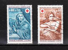 Francia   1969.  Pro Croce Rossa. Quadri. Pro Red Cross. Paintings.Complete Set. - Croce Rossa