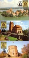 LITHUANIA 1991 Castles Three Maximum Cards #2605 - Lituanie